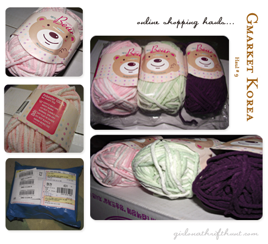 Gmarket Haul #9 - Polyester Baby Yarns