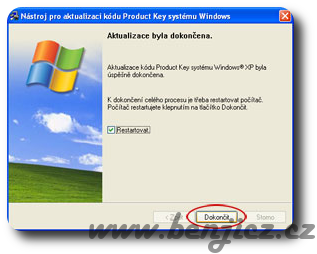 Změna Product Key Windows XP