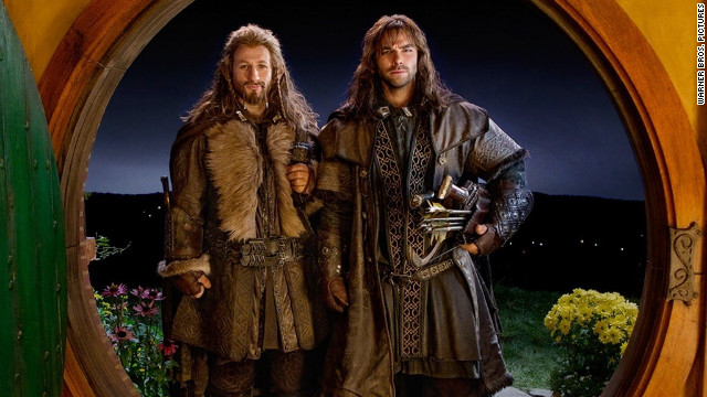 Dean O'Gorman, left, and Aidan Turner are among the dwarves in