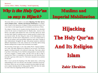 Click to Download PDF: Hijacking the Holy Qur'an and Islam 1st Print Edition March 2013