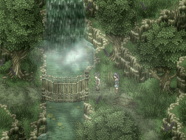 RPG Maker Waterfall by *Kiwinuptuo Pixel art games