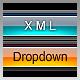 XML Dropdown Menu - Vista Blue
