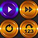 Media Player Icons Set V7