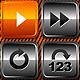 Media Player Icons Set V6