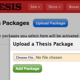 Upload Thesis packages
