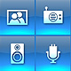 Bounce Series Icons Set - Blue Multimedia