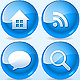 Cool Icons Set - Blue Glossy