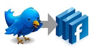 Twitter lié à Facebook