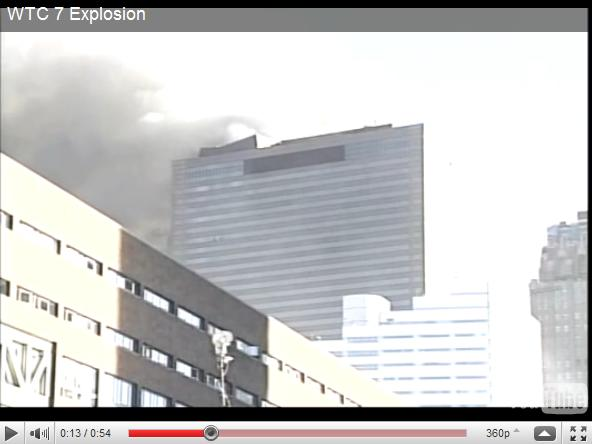 WTC 7 Explosion  IC911STUDIES Penthouse Collapse