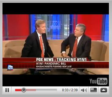Fox News: Tracking H1N1, H1N1 Pandemic Bill Massachusetts - H1N1 Martial Law
