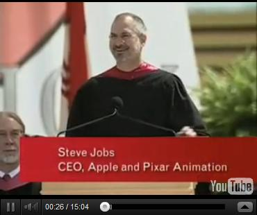 Click to Watch Steve Jobs' Commencement address at Stanford University on June 12, 2005