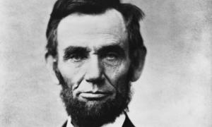 Abraham Lincoln, head-and-shoulders, facing front