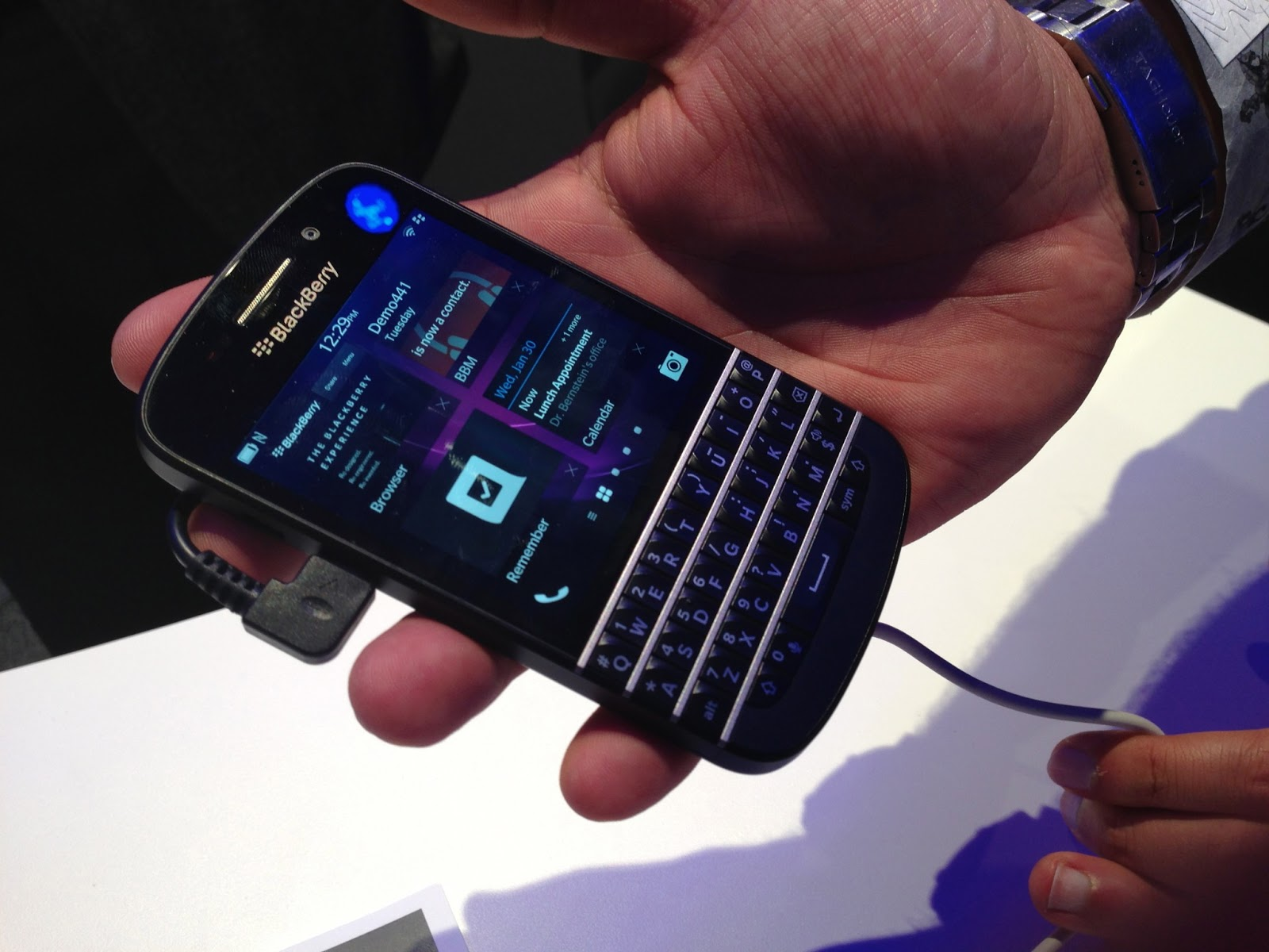teclado Blackberry Q10