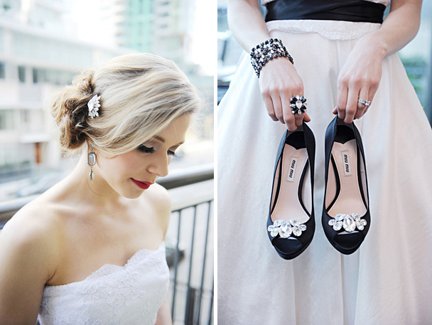 vancouver modern black and white wedding inspiration