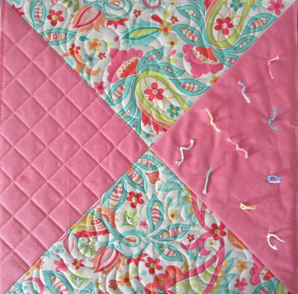 Quilted pillow topper
