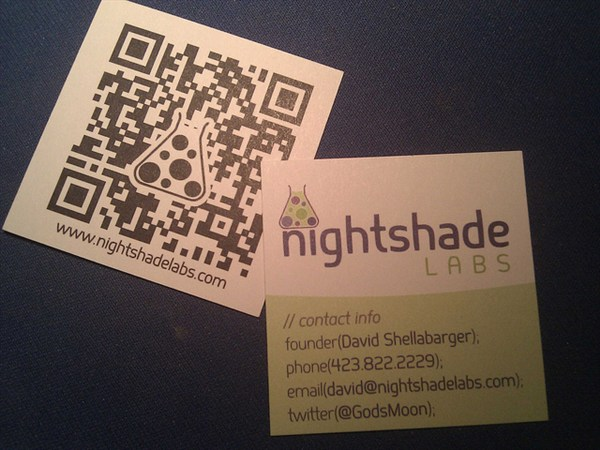 nightshade labs business card