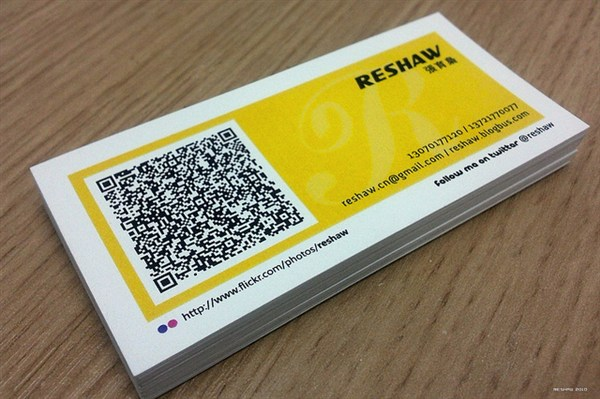 QRCode cards by reshaw