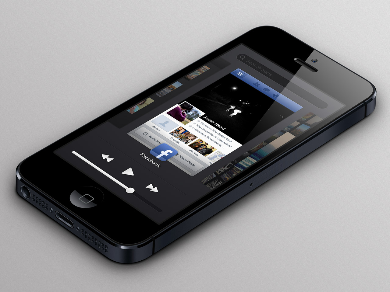 iosswitcher large Eight iOS 7 flat UI mockups