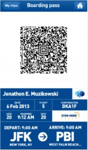 JetBlue mobile app 1 177x300 JetBlue takes big step forward by enabling mobile boarding passes for passengers