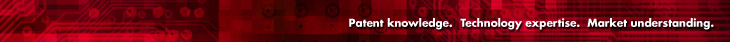 Patent knowledge. Technology expertise. Market understanding.