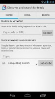 Screenshot of Google Reader