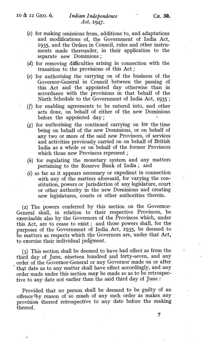 UK Indian Independence Act, 1947, 18th July 1947 page 07