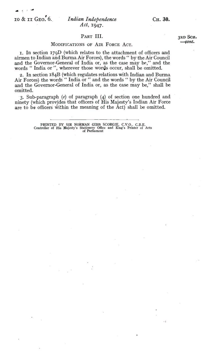 UK Indian Independence Act, 1947, 18th July 1947 page 19