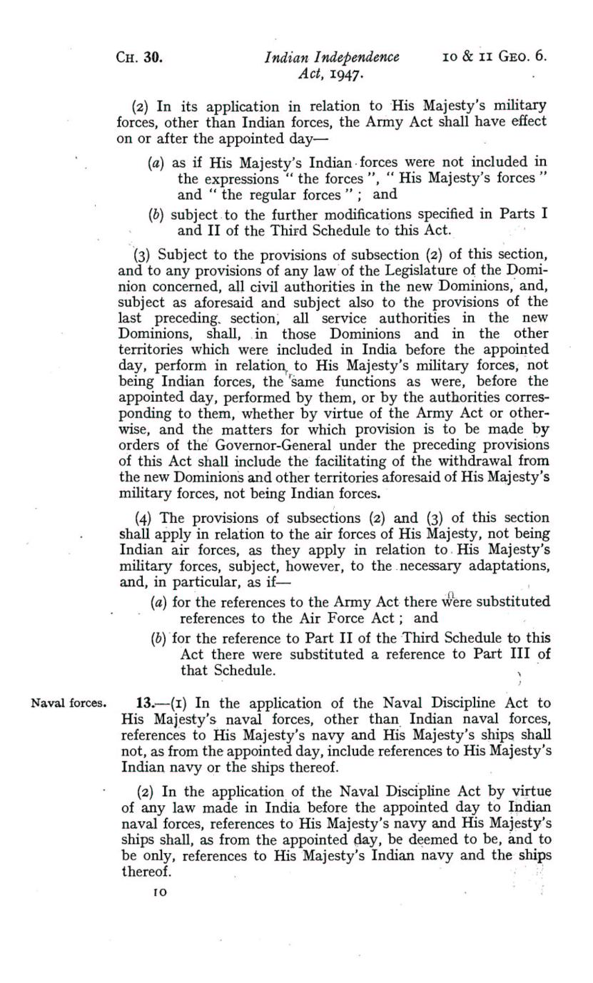 UK Indian Independence Act, 1947, 18th July 1947 page 10