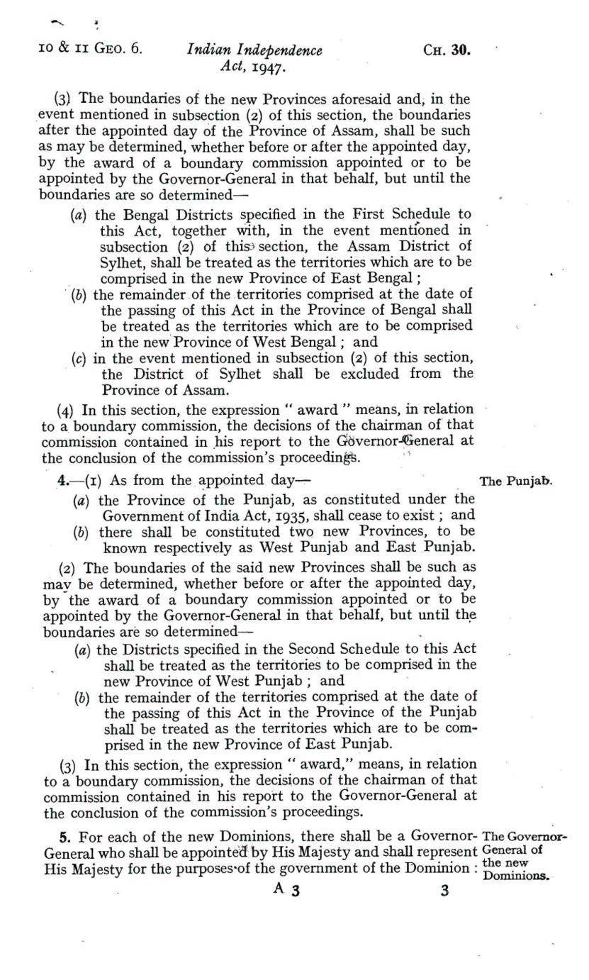 UK Indian Independence Act, 1947, 18th July 1947 page 03