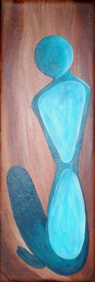 Sculpture bleue, de Marie Hurtrel