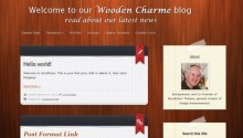 Free WordPress Theme: Wooden Charme