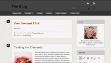Free WordPress Theme: The Blog