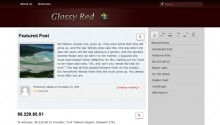 Free WordPress Theme: Glossy Red Pro