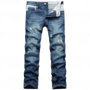 莱仕特2013春装新款男式牛仔裤 韩版修身猫须工艺 男式直筒牛仔裤