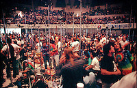 """The Taping Section, or Pit. Grateful Dead Concert at The Hampton Coliseum on 9 October 1989, """"Formerly The Warlocks"""" Show. The recording made by the Band were released as a CD boxed set in 2010."""