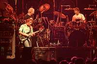 """Bob Weir, Bill Kreutzmann & Mickey Hart performing with The Grateful Dead Live at The Hampton Coliseum on 8 October 1989. One of the """"Formerly The Warlocks"""" concerts. Limited Edition Photographic Prints available for purchase in Cart."""