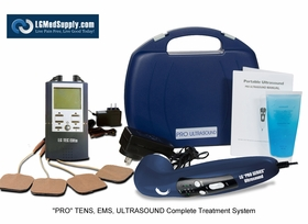 """""""LG-PROCOMPLETE"""" TENS, Muscle Stimulator, and Ultrasound Unit Complete Treatment System"""