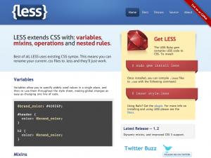 LESS CSS Css Processor