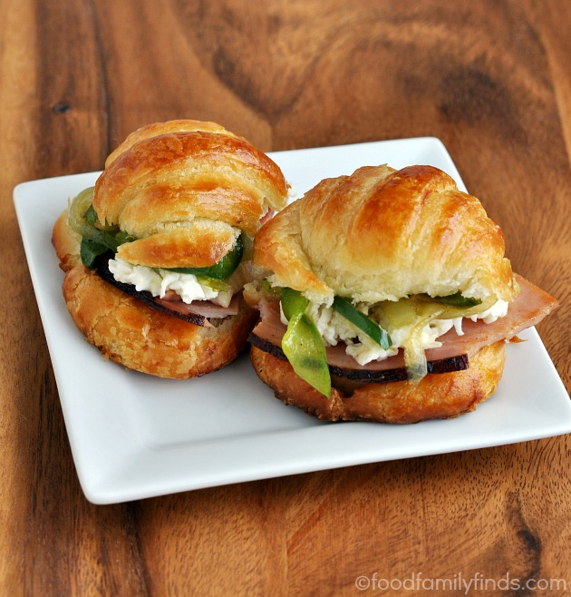Ham and Egg White Croissant Sandwiches