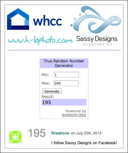 WHCC Sassy HB winner