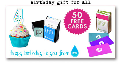 Free Moo Business Cards