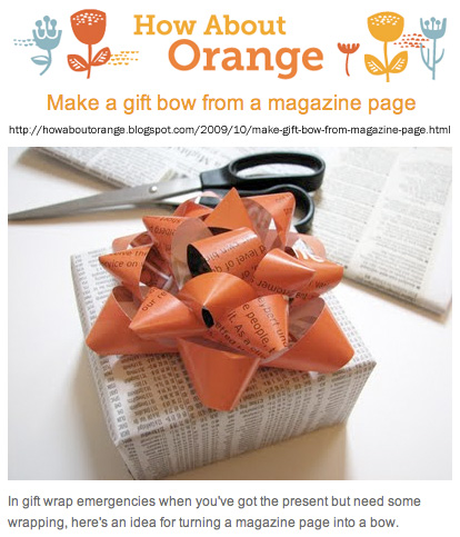 How About Orange how to make a paper bow