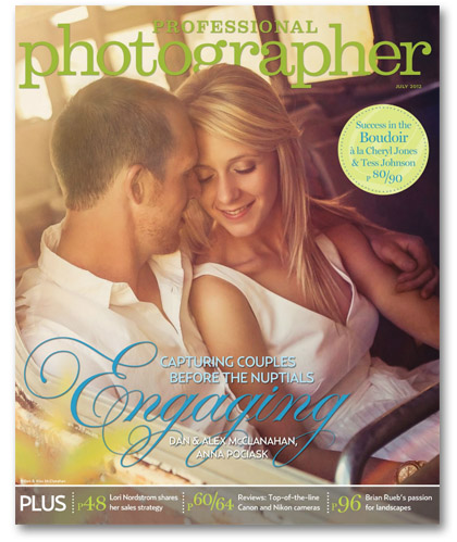 Professional Photographer Magazine July 2012 cover