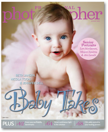 August 2012 Professional Photographer Magazine baby edition