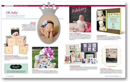August 2012 Profesional Photographer Magazine baby photography portraits Robyn Pollman