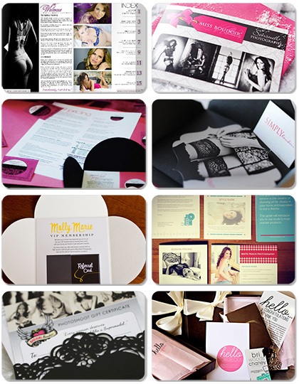 photography photographer boudoir welcome kit packet