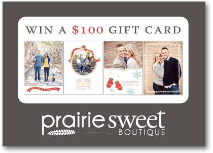 Prairie Sweet Boutique 100 gift card