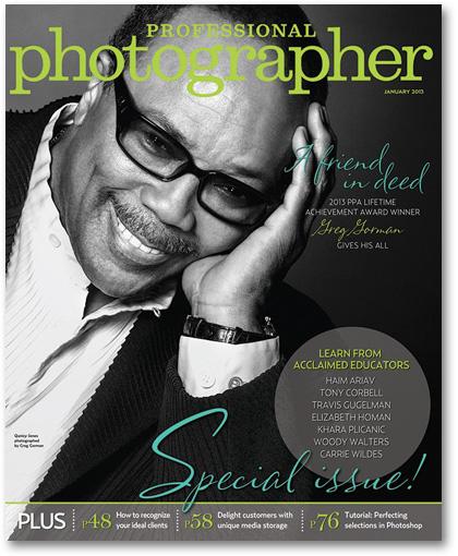 Professional Photographer Magazine January 2013 cover