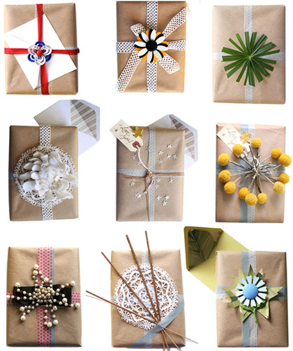 Christmas giftwrap packaging decoration