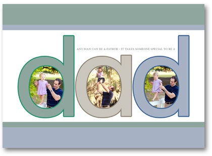 fathers day photo template design